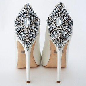 Badgley Mischka Kiara White Heel